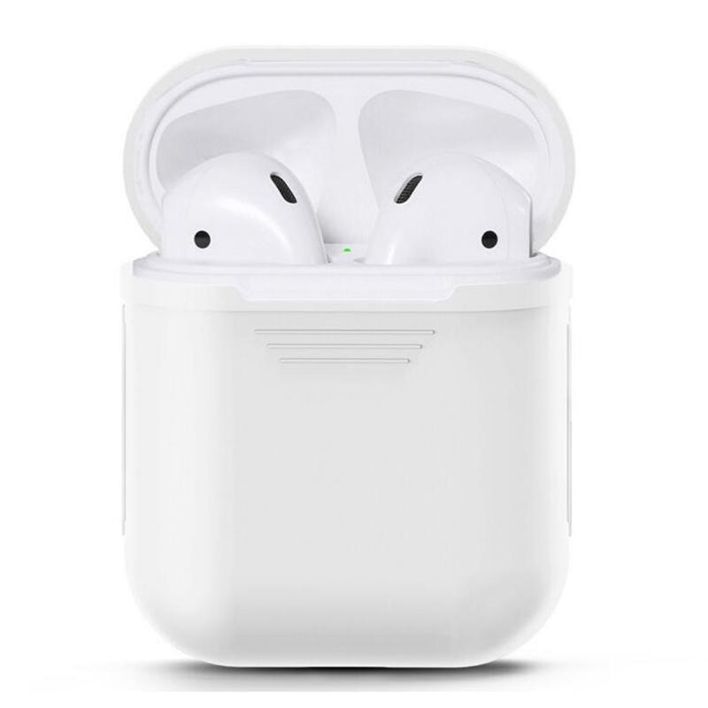 untuk Apple AirPods Portable Wireless Bluetooth Earphone Silicone Protective Box IPhone Anti-hilang Dropproof Tas
