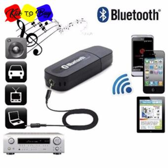 USB Bluetooth 3.5mm Stereo Audio Music Receiver Adapter For Speaker
