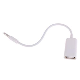 Wanita For AUX USB 3.5mm Audio Jack Male Adaptor Steker Konverter Kabel Data