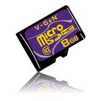Vgen Memory Card Micro SD Class 10 - 8 GB + Adapter