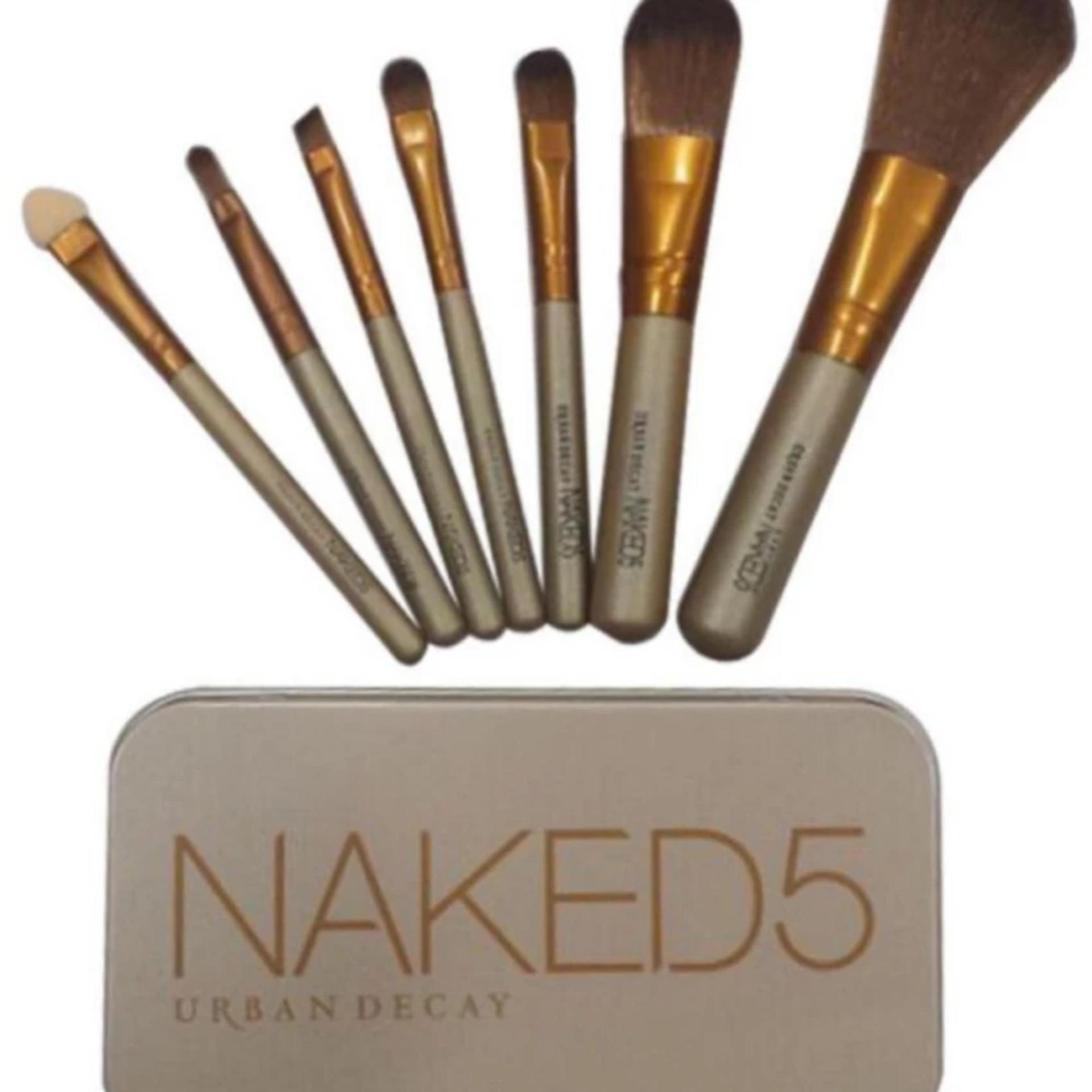Fitur Naked 5 Brush 7 In 1 Kemasan Kaleng Kuas Make Up Set Lengkap Hello Kitty Pcs Vivian Isi