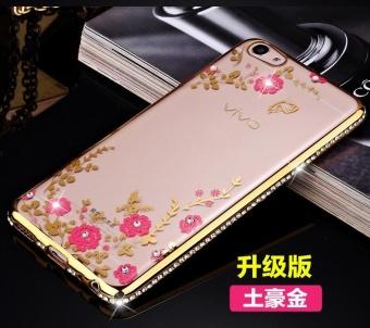 VIVO Y35 Mewah Diamond Bunga Secret Garden Soft TPU Case-Intl