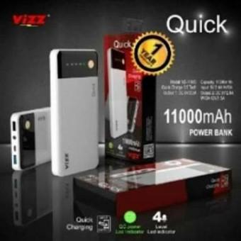 Vizz Powerbank Power Bank Quick 11000 Mah Output 2A Ampere + Kabel Micro USB.