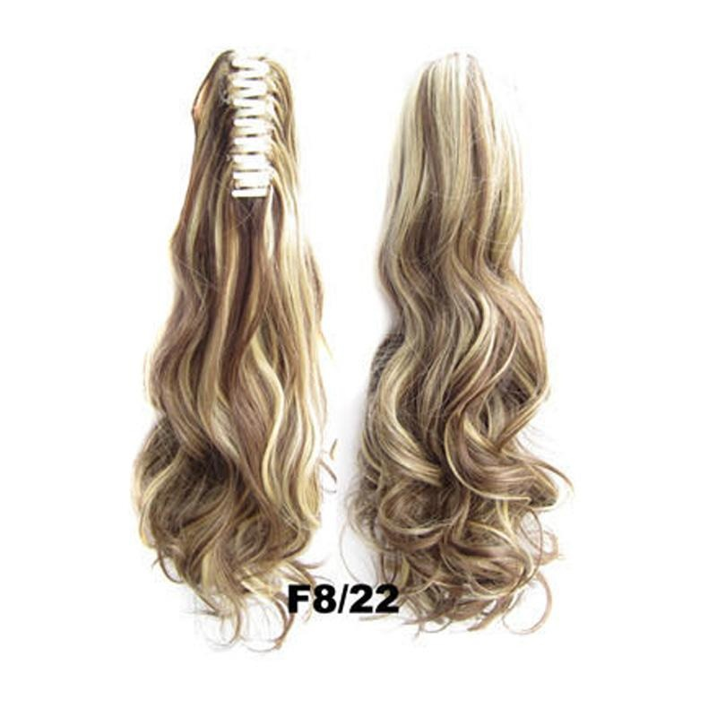 Women Curly Clip In Ponytail Wig Claw On Pony Tail
