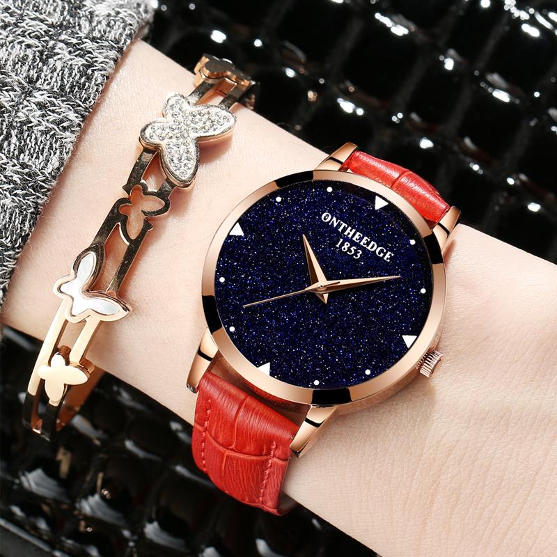 Wanita Yang Bermoral Tahan Air Elegan Langit Berbintang Jam Tangan Jam Tangan Wanita jam tangan wanita