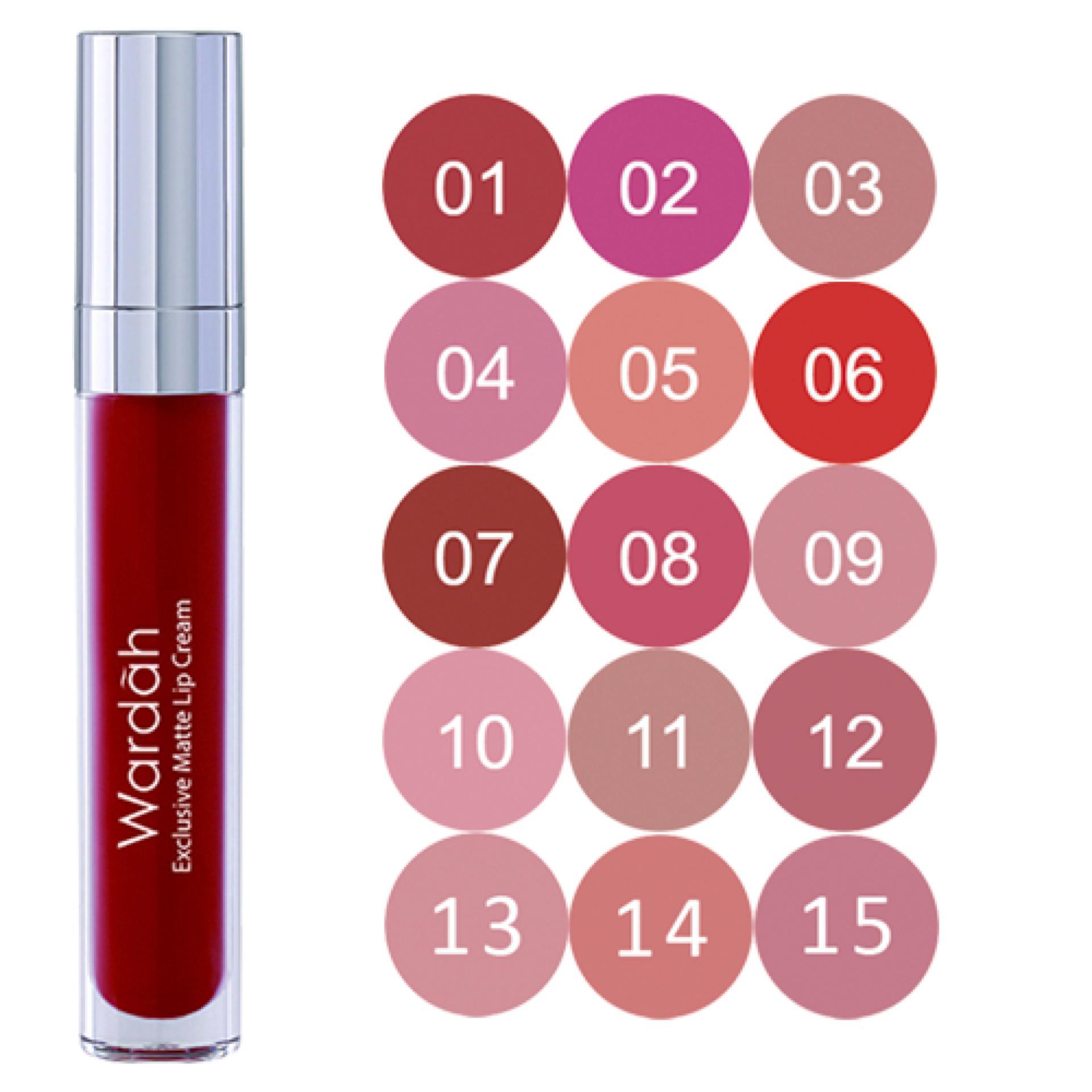Promo Spesial Wardah Exclusive Lip Matte Cream No 06 Feeling Red Di Lt Pro Longlasting 07 Original