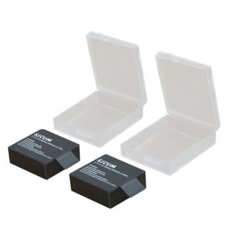 Rimas Waterproof Camera Battery Case Storage Box Cover 1 PCS For Xiaomi Yi / GoPro Hero / SJCAM - Transparent / Transparan Box case Cover Tempat Wadah Batre Baterai Berkualitas