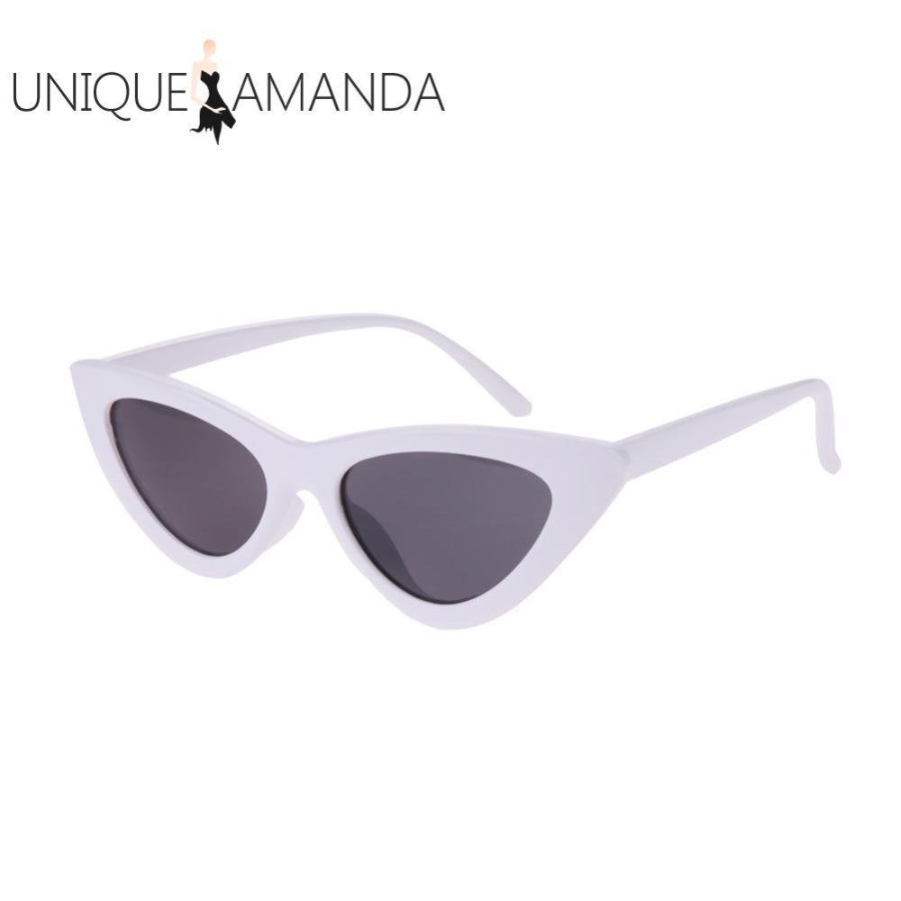 Women Fashion Shades Vintage Chic Cat Eye Triangle Sunglasses - intl