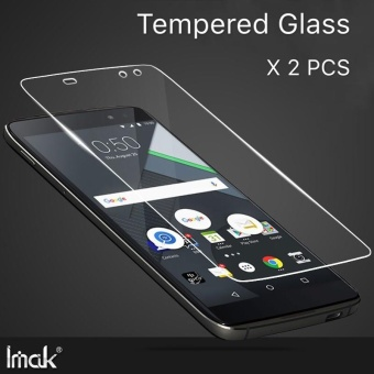 (X 2 Pcs) untuk BlackBerry DTEK60 HD Clear Tempered Glass Screen Protector Film untuk