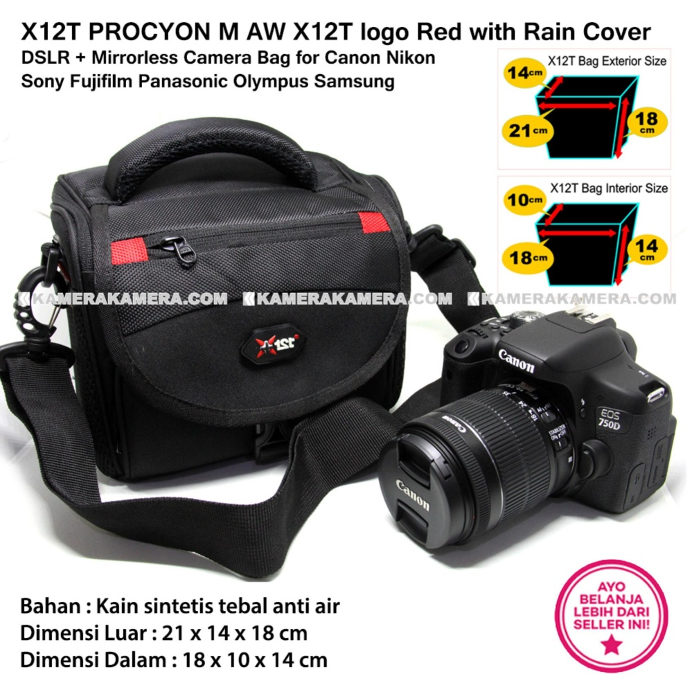 Cek harga baru x12t procyon m aw nikon logo yellow with rain cover x12t procyon m aw x12t logo red with rain cover for dslr mirrorless camera bag thecheapjerseys Images