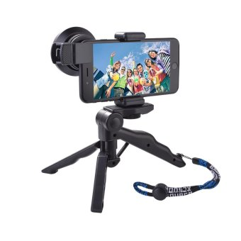 XCSOURCE 0.6X Super Wide Angle+15x Macro Lens+Mini Tripod Clip-On Cell Phone Kit