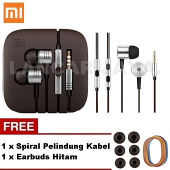 Xiaomi Earphone Big Bass Piston 2 Mi Generation Handsfree/Headset_Putih + Gratis Earbuds + Spiral
