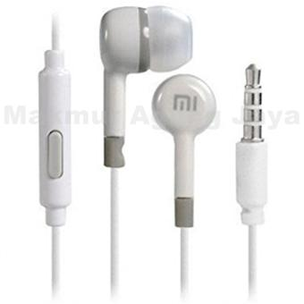 Xiaomi Headset Earphone Handsfree Jack Plug 3.5mm Stereo Portable - Warna Random .