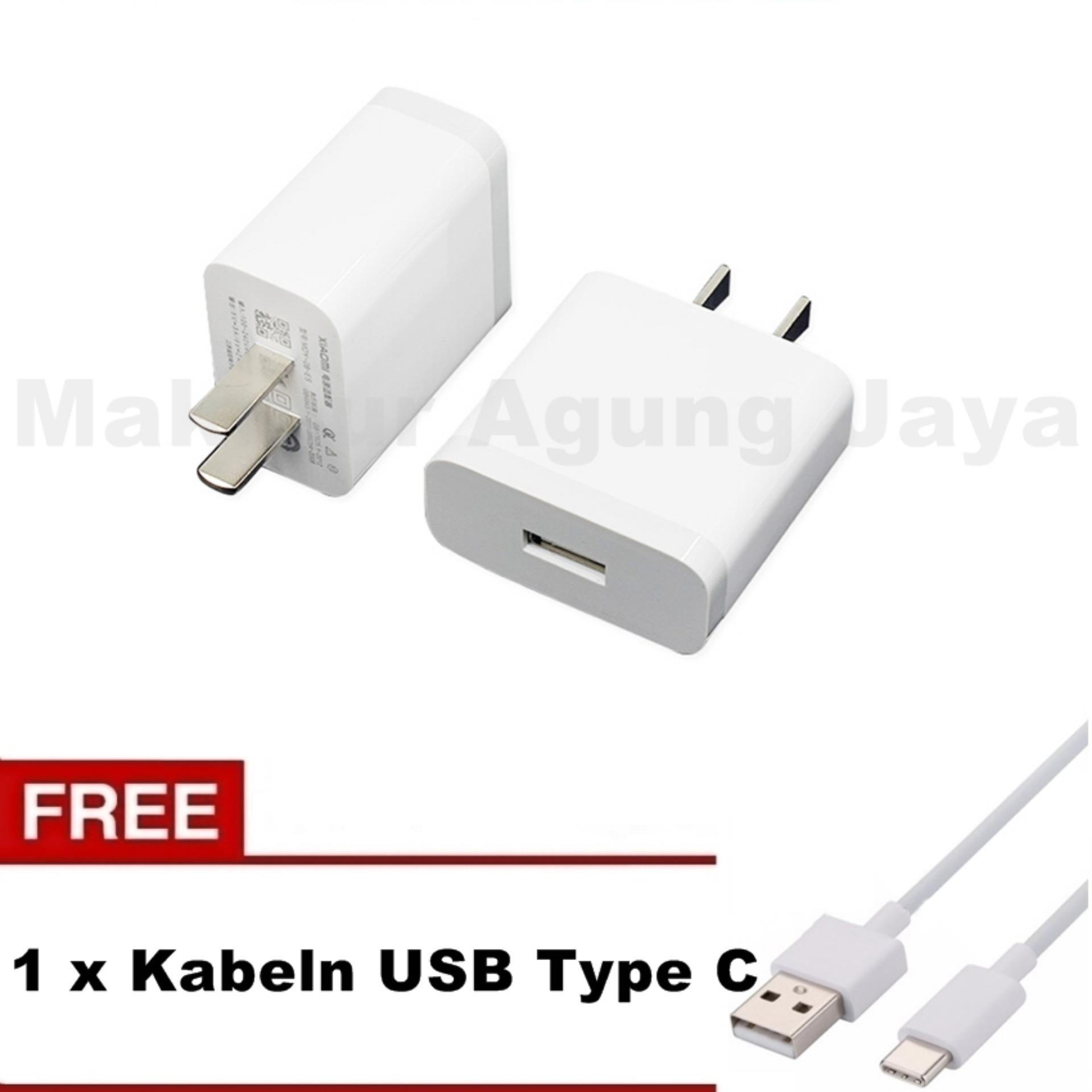 Anggaran Terbaik Xiaomi MDY-08-ES Original Travel Charger 2A + Kabel USB Type