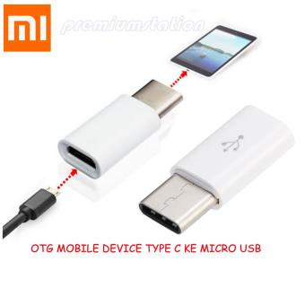 Xiaomi OTG Mobile Device Type C To Micro USB Connected - Putih
