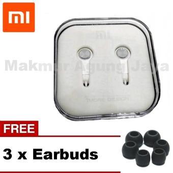 Xiaomi PISTON 3 Earphone Headset Handsfree / Headset Gen In Ear Stereo - Platinum White/