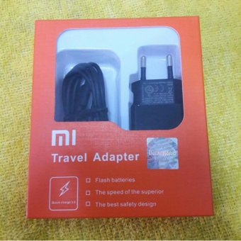 Xiaomi Travel Charger MDY-03-AF 2A Fast Charging Kabel MicroUSB - Hitam