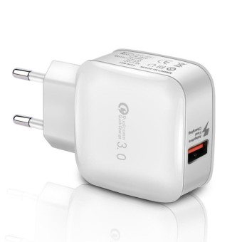 Yika Quick Charge 3.0 USB 5 V 3A Mobile Phone Wall Home Travel AC Fast Charger Adapter (EU Plug) -Intl