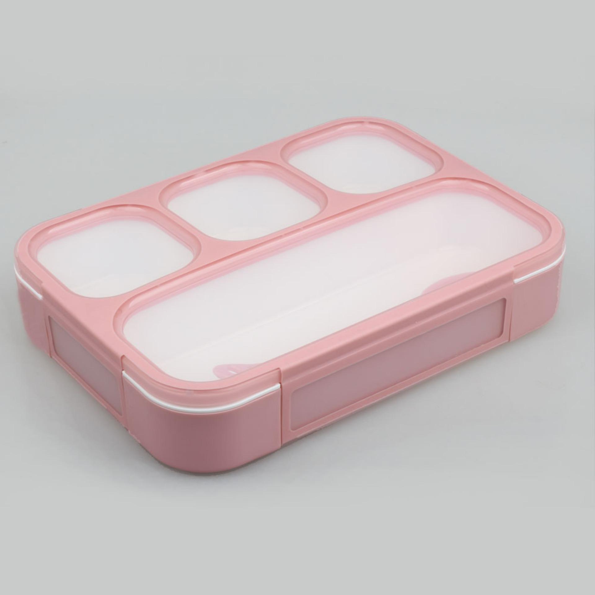 Yooyee Kotak Makan Grid Bento Lunch Box 4 Sekat Anti Bocor