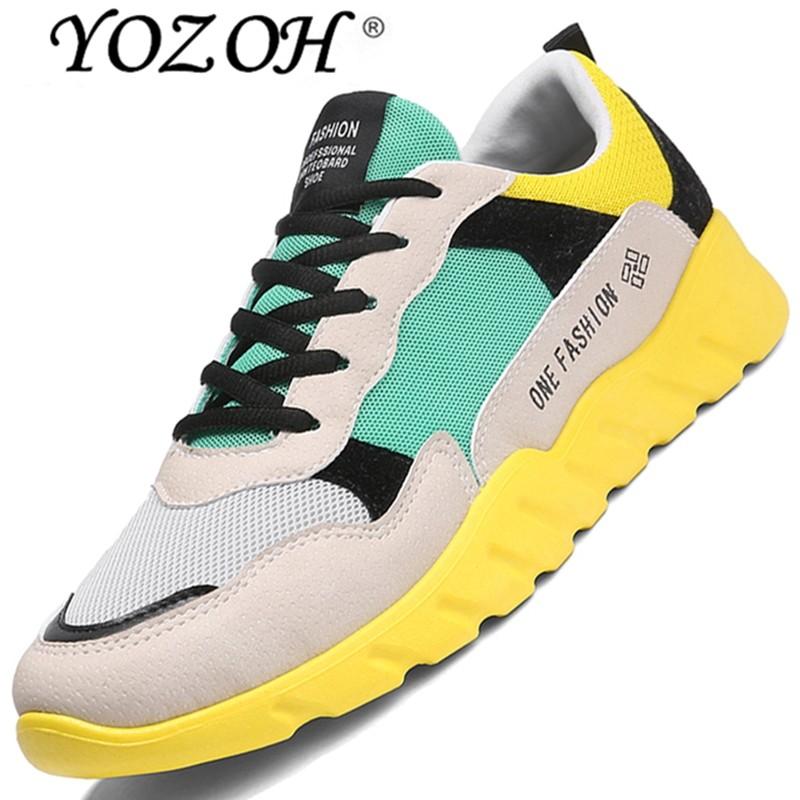 Yozoh Men's Lari Sepatu Bernapas Hommes Olahraga Chaussures De Course Luar Ruangan Atletik Berjalan Sneakers-