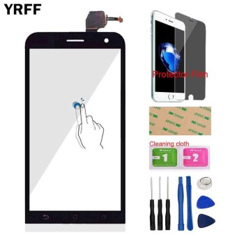 YRFF 5.0inch Phone Front Glass For ASUS ZenFone 2 Laser ZenFone2 ZE500KL Touch Screen Touch Digitizer Panel Glass Lens Sensor Free Tools Protector Film Adhesive - intl