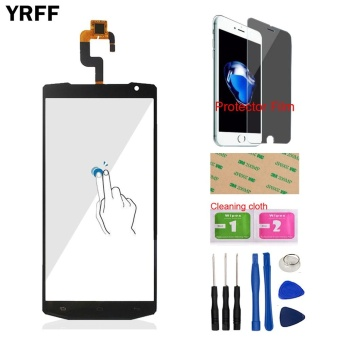 YRFF 5.5 ''AAA Ponsel untuk Oukitel K10000 Depan Touch Screen Digitizer Touch Panel Glass Lens Sensor Alat Gratis Protector Film Perekat-Intl