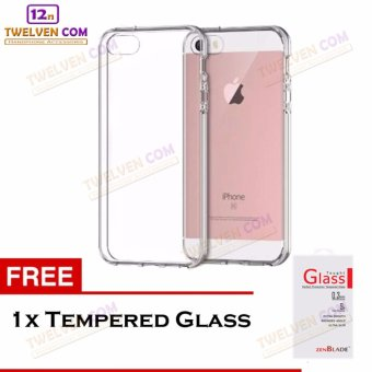 Zenblade Anti Shock Anti Crack Softcase Casing for iPhone 6 Plus / 6s Plus + Free Tempered Glass