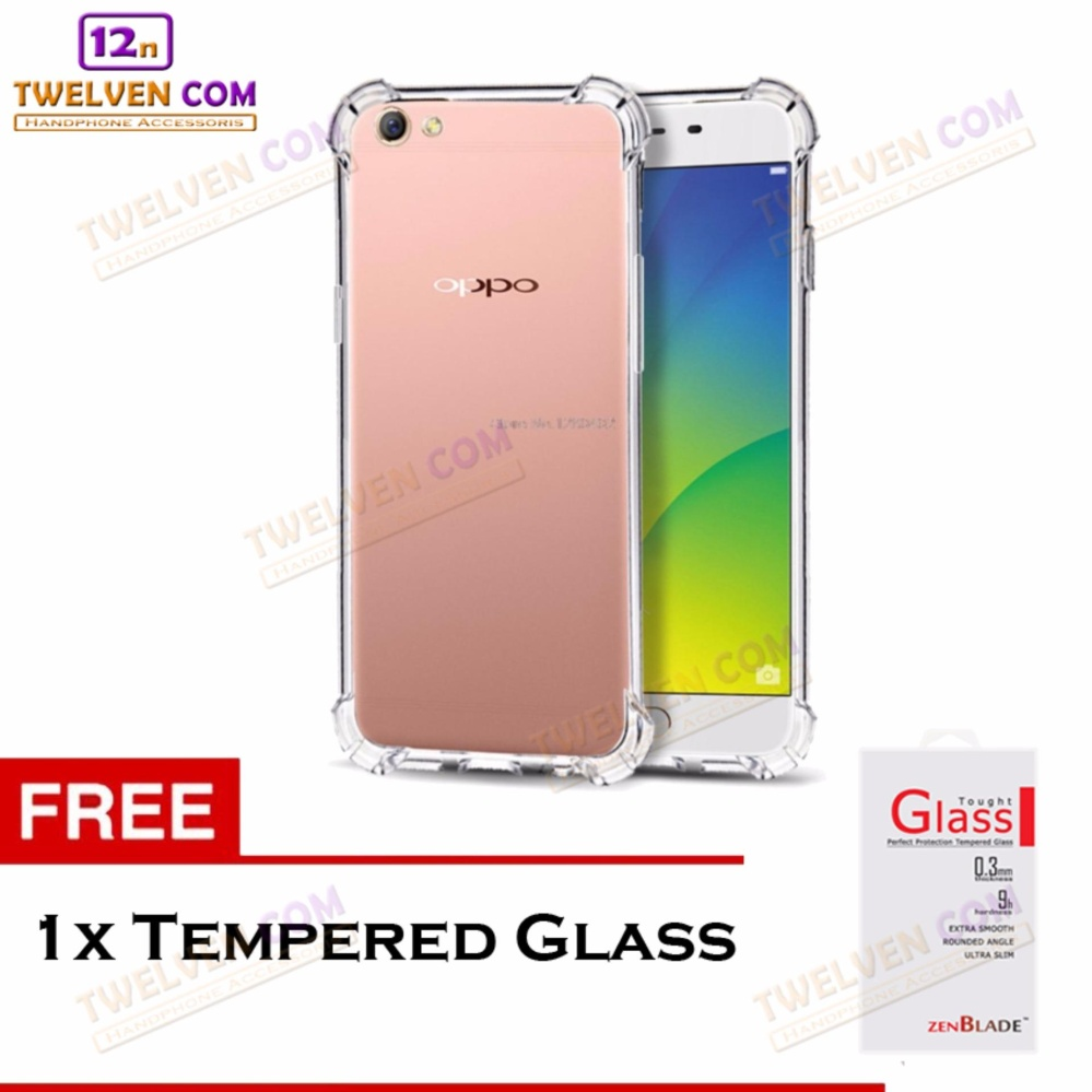zenblade anti shock anti crack softcase casing for oppo f7 – free tempered glass