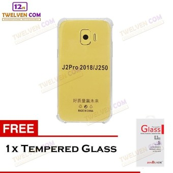 Zenblade Anti Shock Anti Crack Softcase Casing for Samsung J2 Pro 2018 - Free Tempered Glass