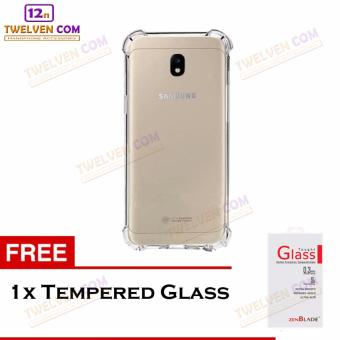 Zenblade Anti Shock Anti Crack Softcase Casing for Samsung J330 J3 Pro 2017 + Free Tempered