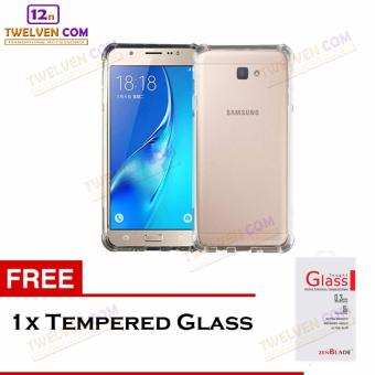 Zenblade Anti Shock Anti Crack Softcase Casing for Samsung J7 - Free Tempered Glass