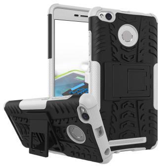 Zoeirc Heavy Duty Shockproof Dual Layer Hybrid Armor Pelindung Cover dengan Kickstand Case untuk Xiaomi Redmi