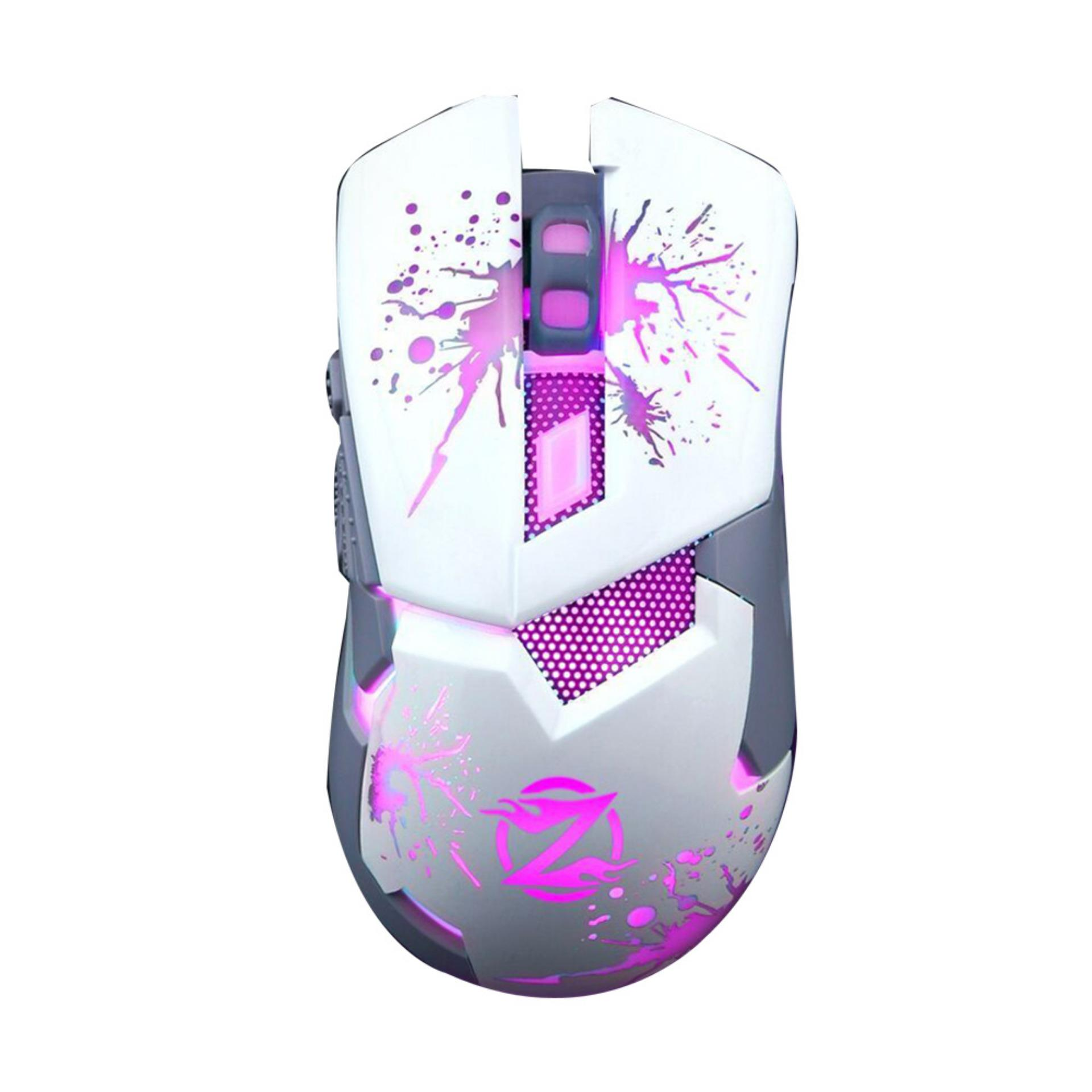 Hot Deals Zornwee Mouse Gaming - Mouse Gaming - Gaming Mouse The Switch Z42 White terbaik