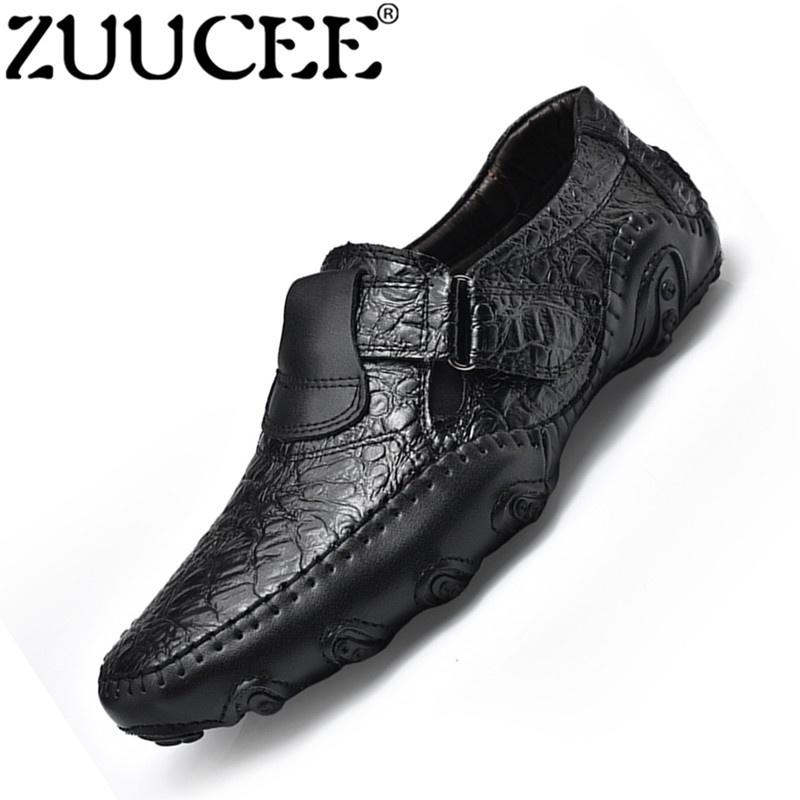 ZUUCEE Pria Fashion Loafers Sepatu OCTOPUS Sepatu Kasual Outdoor Sepatu ( hitam)-Intl