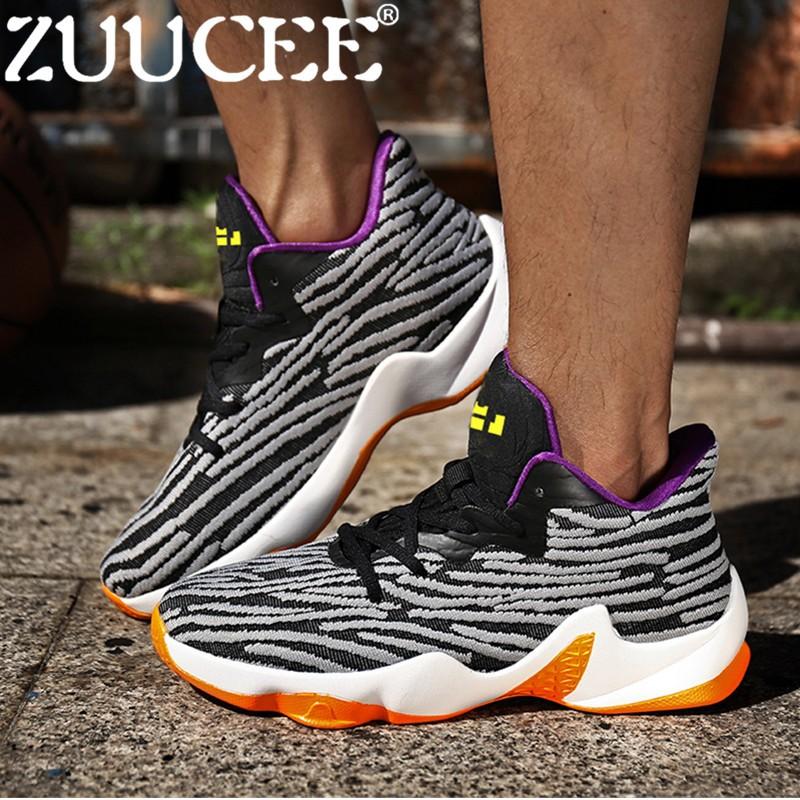 ... Zuucee Fashion Pria Sepatu Basket Berongga Olahraga Lari Shoes free  Shipping a667ede2a1