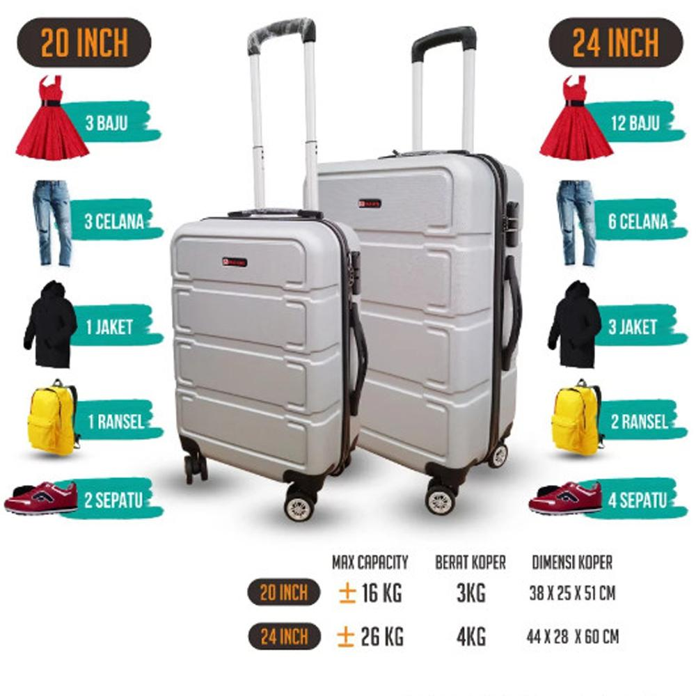 Polo Love Koper Hardcase Luggage 20 Inch 806-20 Koper Fiber Koper Kabin Koper Import