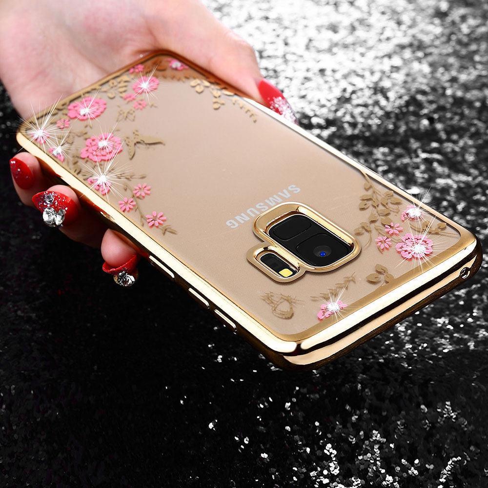 Detail Gambar TPU FLOWER Case Samsung Galaxy J6 Plus J6+ softcase casing bunga cover ultra thin transparan silicone tipis Terbaru