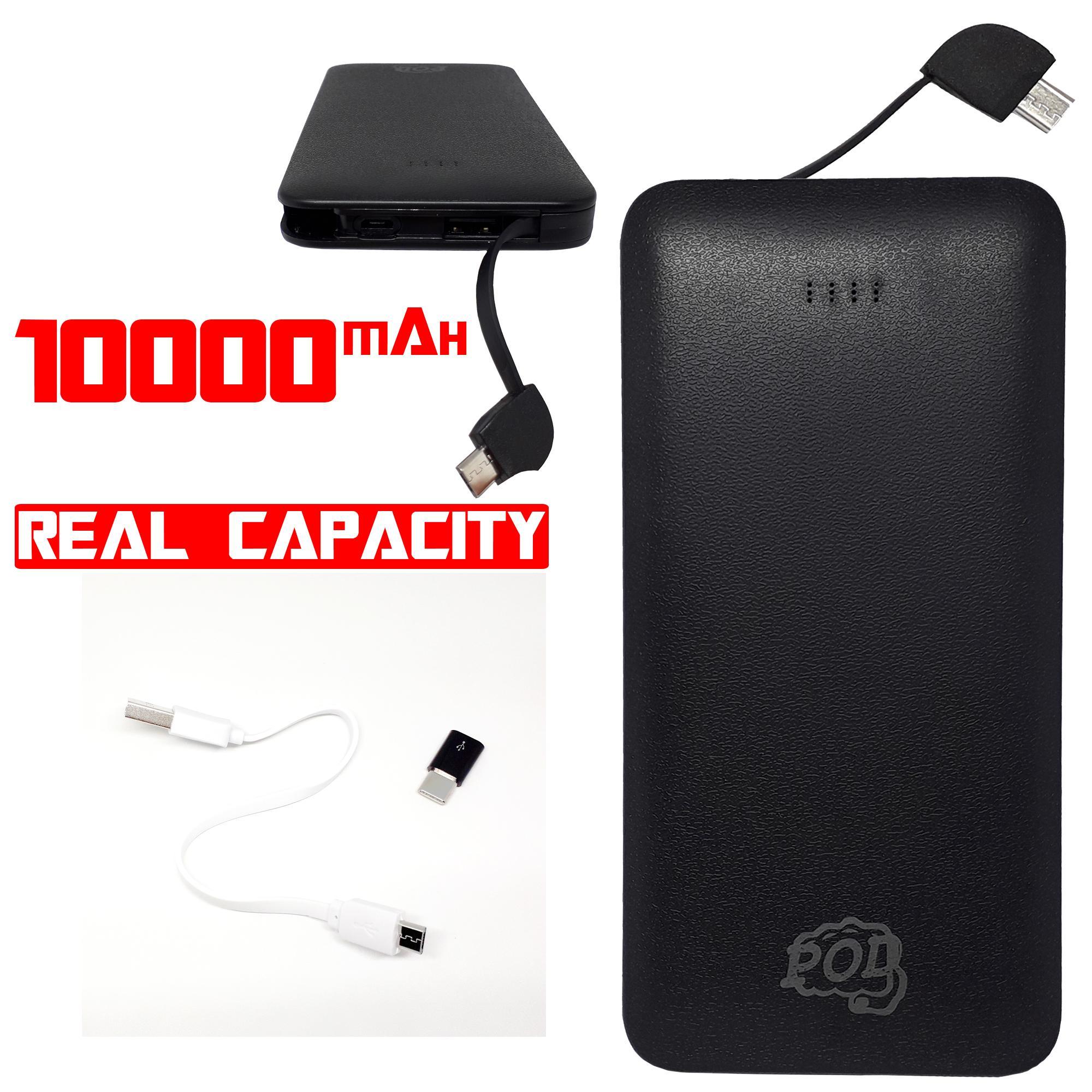 powerbank pod super slim 10.000mah original  compatibel all device – hitam