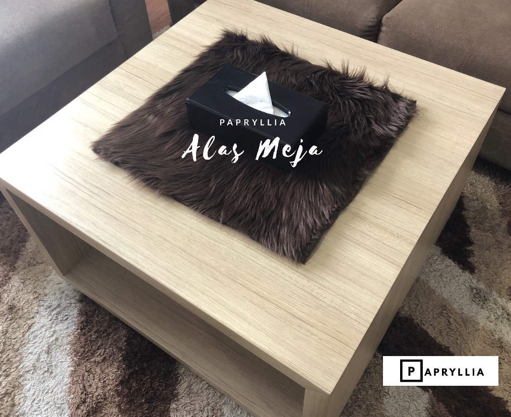 papryllia – taplak / alas meja bulu korea ukuran 50x50cm