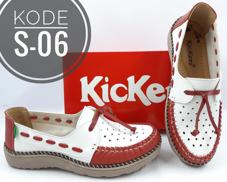 sepatu sandal fashion wanita flatshoes kickers kode s-36