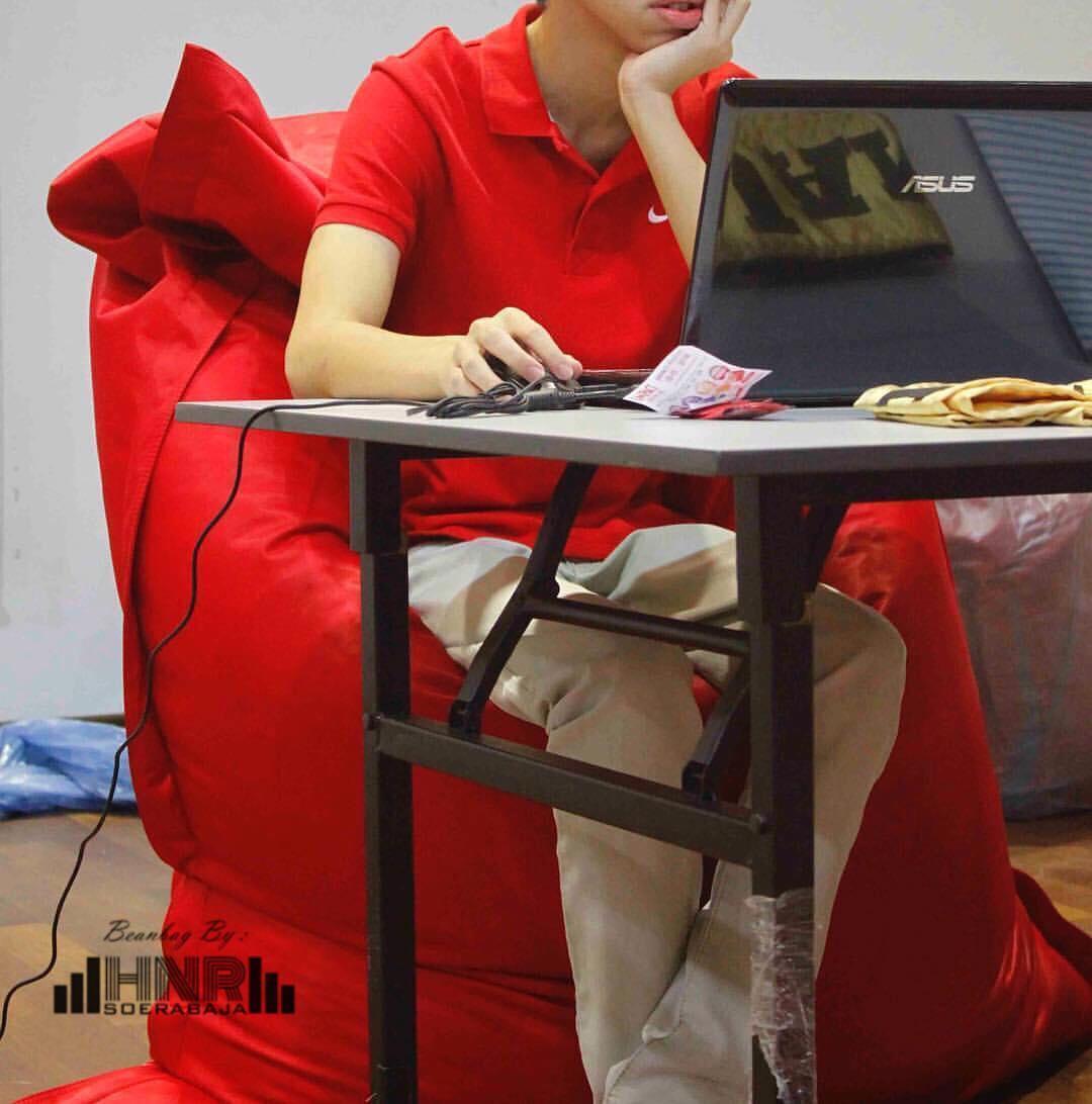 kursi santai bean bag long straight lounger – cover only – paket super hemat anti air uv / kursi pantai / beanbag / sarung beanbag / outdoor