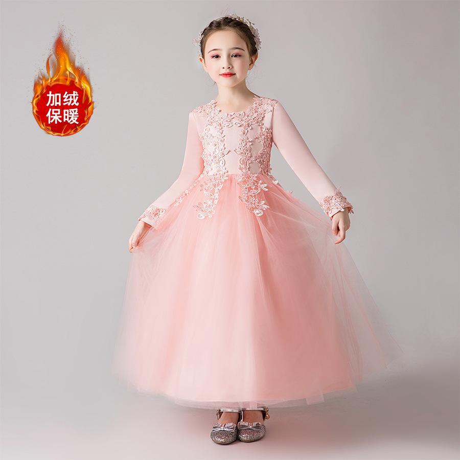 Anak prempuan Gaun putri Rok Flared benang gaun panjang 2018 Gaya Korea model baru anak-