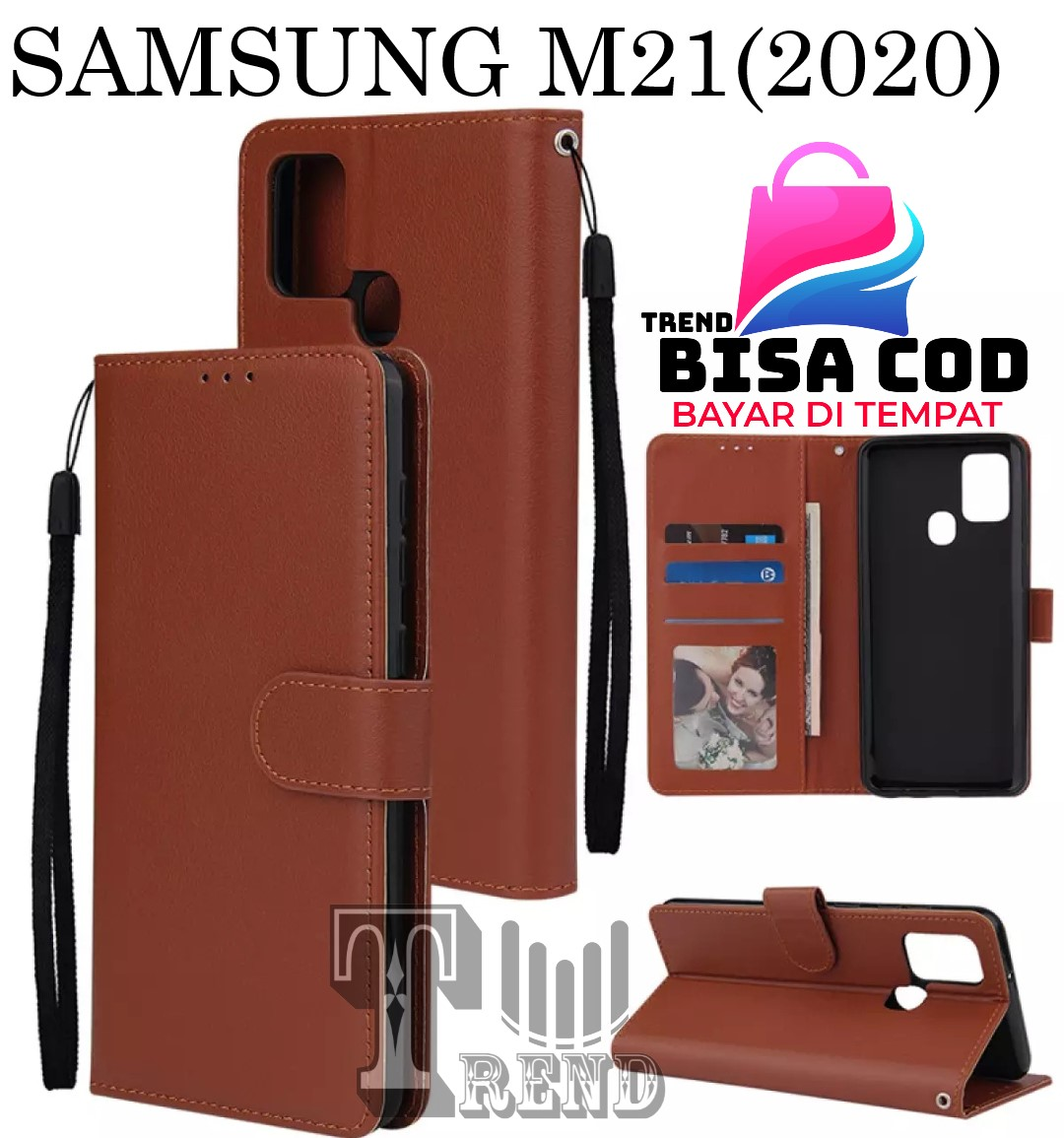 leather case flip untuk samsung m21 (2020) -flip  wallet case kulit samsung m21 (2020)- casing dompet-flip cover leather-sarung buku hp