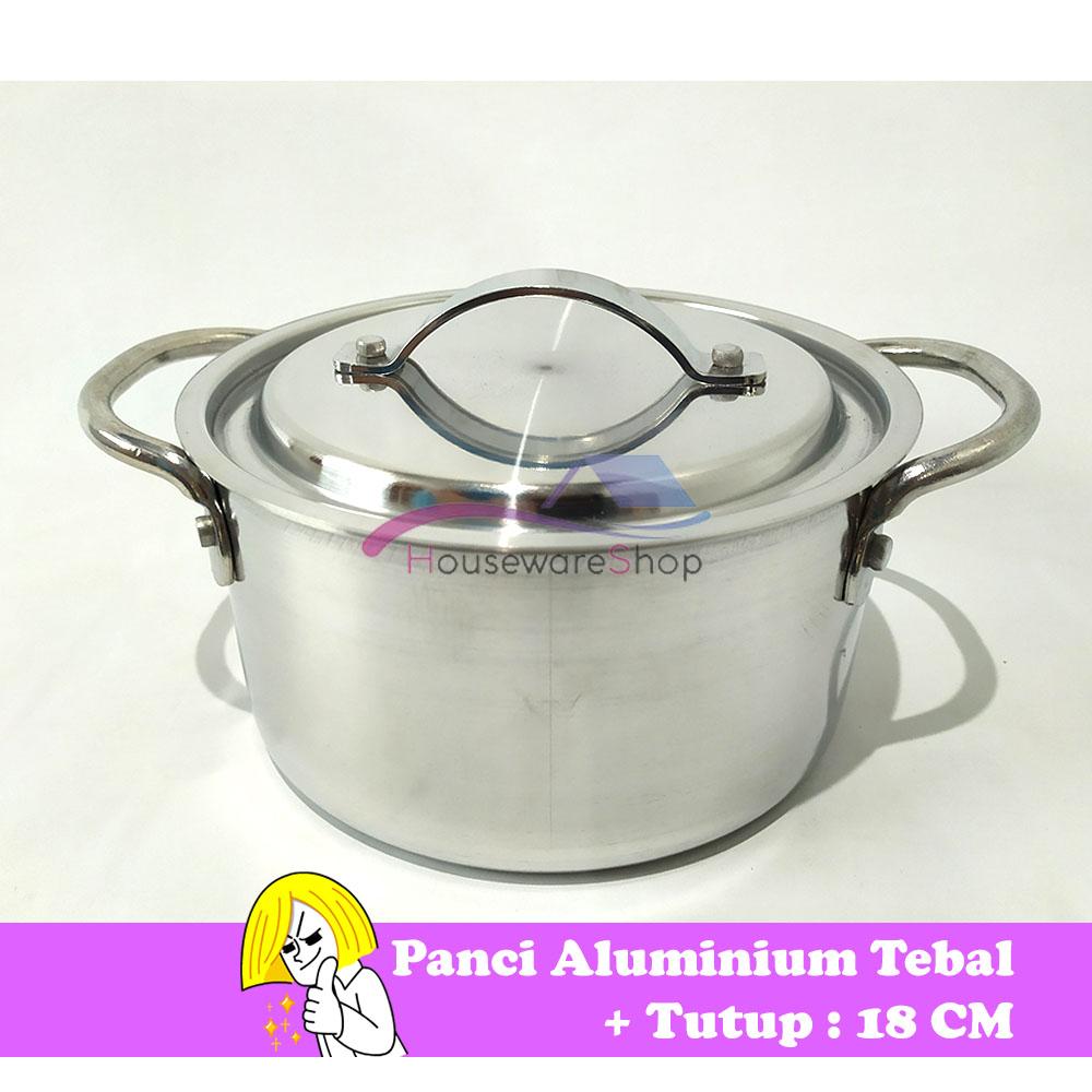 panci aluminium tebal 18 cm – kaserol swislux