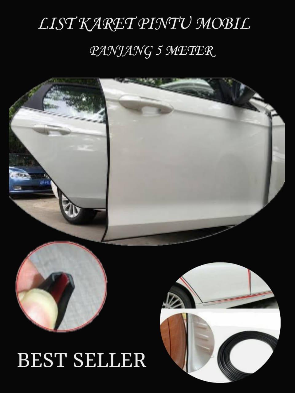 list karet pintu mobil 5 meter universal import