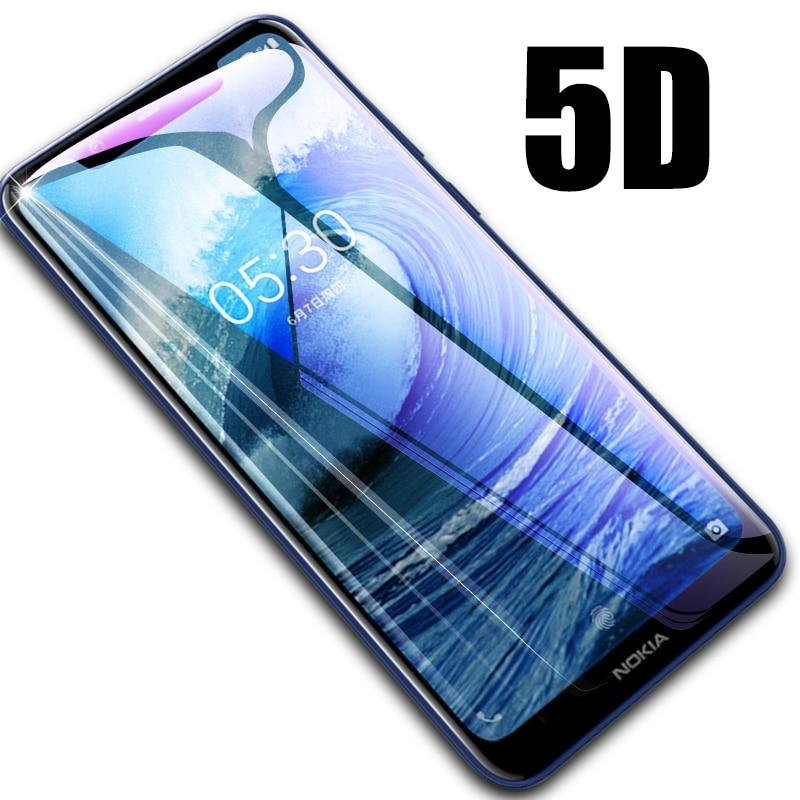 Full Cover Tempered Glass 5D Screen Protector Nokia 5.1 Plus