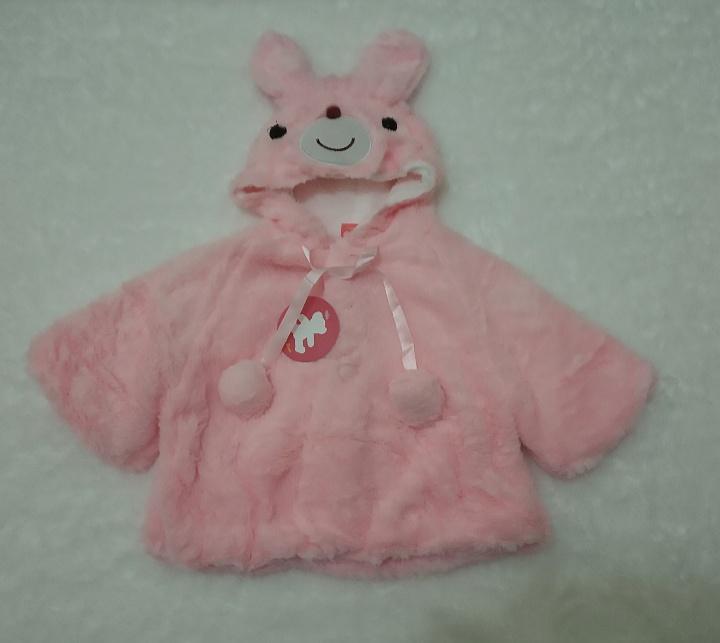 ... Terbaru Termurah Jaket Bulu Import Anak Bayi Perempuan Pompom Hoodie Telinga - Zania Shop - 3 ...