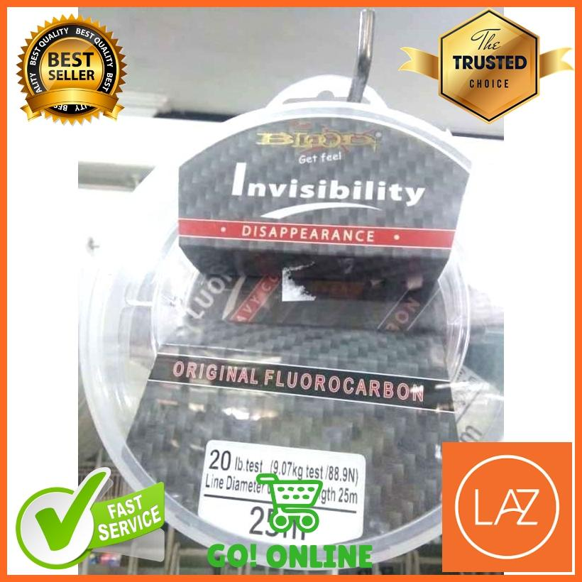 ... Senar Pancing Blood Invisibility Leader Fluorocarbon Material 25M - 3 ...