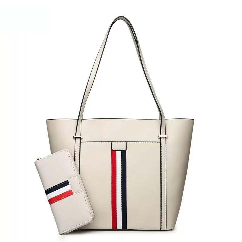 twenty bag – tas selempang hbag wanita garis belanda 2in1 korean style