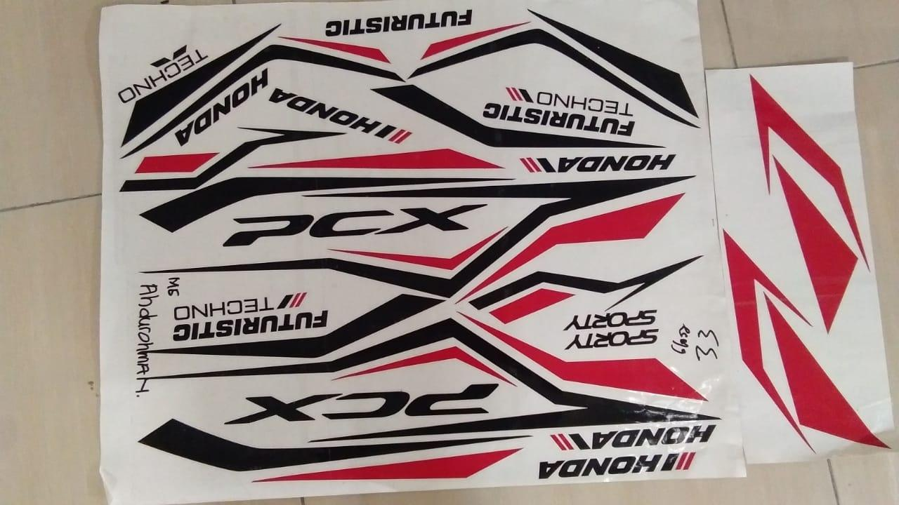 Detail Gambar ME Cutting Sticker - for HONDA PCX - LAZADA Prioritas - Hitam Merah Terbaru